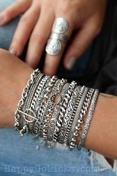Hipster Grunge, Grunge Goth, Silk Wrap Bracelets, Stacking Bracelets, Chain Bracelets, Necklaces, Boho Jewelry, Jewelry Design, Jewellery
