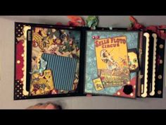 "Le Cirque mini album from ""My Sisters Scrapper"" youtube channel! #graphic45 #video"