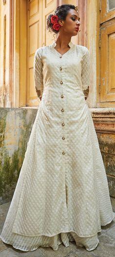 741900: White and Off White  color family  stitched Long Lehenga Choli .