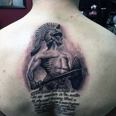 Manly Mens Sword Tattoo On Back
