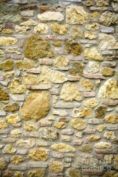 Old Stone Wall, Tuscany, Italy Photograph  - Old Stone Wall, Tuscany, Italy Fine Art Print