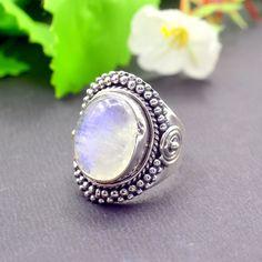 Aqua Chalcedony Ring*Coffin Ring*Sterling Silver Ring*bezel Set Ring*Natural Aqua Chalcedony*handmade Ring*Boho Ring*aqua Ring*Coffin gifts*