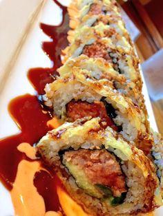 SPICY CRISPY ROLL  Spicy tuna Jalapeño Avocado Seaweed & soy paper CRISPY FRIED Eel sauce  Smoky spiced mayo