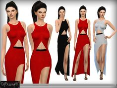 The Sims Resource: Smooth Line Maxi Dress by DarkNighTt • Sims 4 Downloads