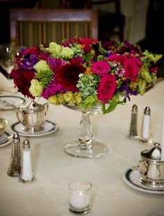 styling similar to what I was thinking for your centerpieces on the stone urns-intricate and rich Flower Garlands, Flower Decorations, Table Decorations, Table Flower Arrangements, Table Flowers, Narrow Table, Unique Flowers, Centerpieces, Wedding Inspiration