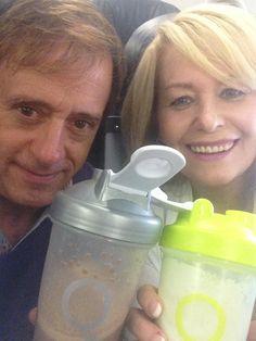 Bill & Joanne Tatro - Breakfast on the go. Beats airline food!
