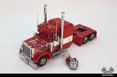 """Peterbilt 379 & MAC endump in Lego 1:16"" by bricksonwheels: Pimped from Flickr"