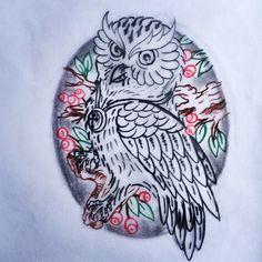 Coruja tattoo art.,