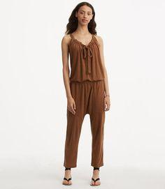 Image of Lou & Grey Linen Jersey Jumpsuit color Dusty Acorn