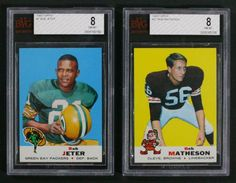 up4auction - 1969 Topps Football BVG BGS Registry Lot of (11) BVG 8's including Jeter, Matheson, & More