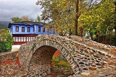 Stone Bridge at Moustheni village near Kavala town Macedonia Old Bridges, Stone Masonry, Arch Bridge, Old Stone, Macedonia, Garden Bridge, Natural, Beautiful Places, Scenery