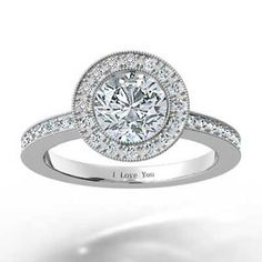 Halo Engagement Ring Set Migraine 5
