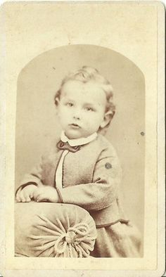 CDV Photo Adorable Handsome Little Victorian Boy Standing Nice Top Curl on Hair | eBay