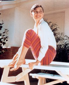 Memorable White Shirt Moments Through the Decades   Audrey Hepburn, 1956 via @Anna Lynch Magazine