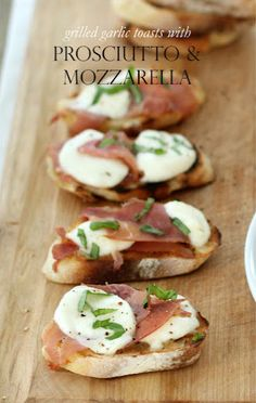 PROSCIUTTO and MOZZARELLA! #food #foodie