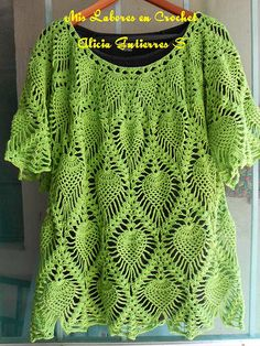 Mis labores en Crochet: Blusa de piñas en hilaza Armonia