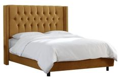 Monroe Wingback Bed, Moccasin