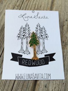 Redwood Enamel Pin, Hard Enamel Pin, Brooch, Gold Pin, Lapel Pin, Tree Pin, Limited Edition Pin, Stocking Stuffers, California Pin by LunaSavita on Etsy https://www.etsy.com/ca/listing/496839895/redwood-enamel-pin-hard-enamel-pin