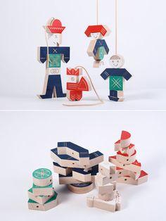Houten trekpop die je zelf kunt samenstellen // Wooden Interchangeable Puppets