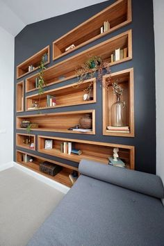 Delightful Furniture Living Room Awesome diy easy cheap book storage bookshelf ideas Furniture Arranging for Small Living Rooms Small Living Rooms, Living Room Decor, Shelf Ideas For Living Room, Family Rooms, Living Room Renovation Ideas, Gray Living Room Walls, Living Room Shelving, Bedroom Storage Shelves, Living Room Cupboards