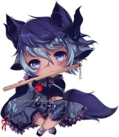 Experimental Chibi Commission for SoulBeater! This is their shota trap OC  I had a lot of fun experimenting with this! Haven't drawn this cutesy in forever ww