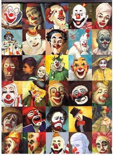 Clown Paintings, edited and with an introduction by Diane Keaton. powerHouse Books: New York, Clown Pics, Cute Clown, Creepy Clown, Circus Art, Circus Clown, Circus Theme, Clown Cirque, Art Du Cirque, Diy Halloween Decorations
