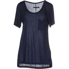 Rag & Bone/jean T-shirt ($33) ❤ liked on Polyvore featuring tops, t-shirts, shirts, dark blue, pocket shirt, pocket tee, dark blue shirt, short sleeve pocket t shirts and pocket t shirts
