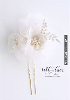 silk and lace blossom tutorial from @Kim @ {Twigs and Twirls} & Honey | CHECK OUT MORE IDEAS AT WEDDINGPINS.NET | #diyweddings