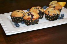 DEFINITELYLEOPARD.COM: Lemon Blueberry Muffins