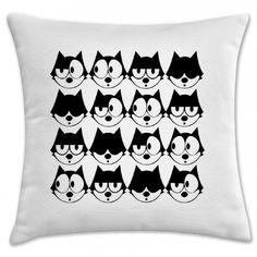 Capa de almofada gato Felix Faces