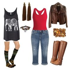 """""""We ride at noon"""" by violajunerose on Polyvore featuring Black Diamond, Silver Jeans Co., Madden Girl, Emily & Ashley, Bling Jewelry, Auden and Kenneth Cole"""