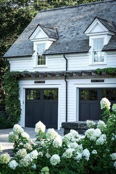 exterior design In a garage house one of the important rooms to secure the vehicle owned. Not infrequently, the garage is also used as a vehicle repair or other similar work. As a resu Exterior Paint, Exterior Design, Garage Exterior, Garage Design, Diy Exterior, Exterior French Doors, Bungalow Exterior, Exterior Signage, Exterior Stairs