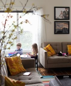 Living With Kids: Katy Regnier...so cozy.  the whole house is awesome.