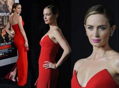 """RED HOT: """"The Devil Wears Prada"""" actress Emily Blunt is really a stunner in Parada."""