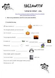 English worksheet: Lumpkin the Pumpkin