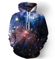 Art work in the form of a hoodie. http://iedm.com/ Lush Galaxy Hoodie