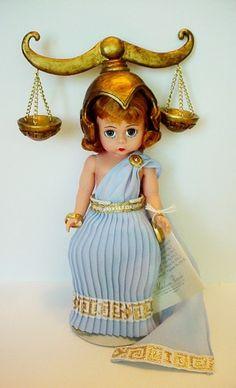 """Madame Alexander 8"""" Libra Zodiac Collection Madame Alexander Dolls, Libra Zodiac, Pepper, Salt, Masks, Christmas Ornaments, Disney Princess, Toys, Holiday Decor"""
