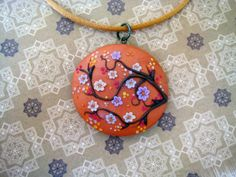 Sunset under the cherry blossom by DandelionJewellery on Etsy