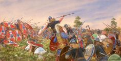 The battle of Strasburg 357 AD, fought between the Late Roman army of (deputy emperor) Julian and the Alamanni (Germanic) tribal confederation led by the joint paramount king Chnodomar.