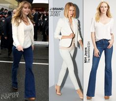 Jennifer Lawrence in J Brand, Thakoon & MiH Jeans | 'The Hunger Games' U.S. Tour - Seattle