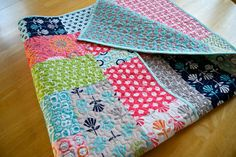 Such a pretty girl's quilt! Quilt Modern Gracie Girl Lori Holt for Riley Blake by PiecesOfPine, $165.00