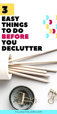 Want to clear your clutter, but you're too overwhelmed to get started? Here are 3 'pre-decluttering' steps you can take TODAY to start making progress. Decluttering mindset tips to get rid of the guilt and simple actions to get you started on the road to a clutter-free home. #declutter #organizing #declutteringtips Clutter Free Home, Deal Sites, Home Upgrades, Save The Planet, Staying Organized, Motivate Yourself, Decluttering, Storage Solutions, Feng Shui