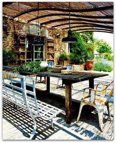 eclectic patio