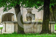 Photo about Stone fountain in old palace. Image of architecture, detail, face - 69295652 Stone Fountains, Architecture Details, Palace, Stock Photos, Outdoor Decor, Plants, Image, Home Decor, Decoration Home
