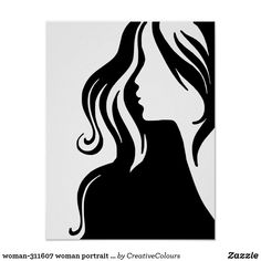 Shop woman portrait girl female beautiful poster created by CreativeColours. Silhouette Tattoos, Woman Silhouette, Silhouette Vector, Female Portrait, Female Art, Woman Portrait, Beautiful Posters, Woman Drawing, Stencil Art
