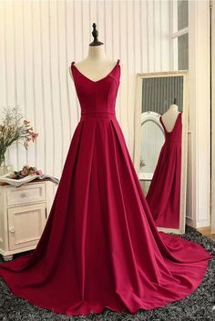 V Neck Evening Dress, V-neck Prom Dresses, Evening Dress Red, Evening Dress Long Prom Dresses Long Prom Dresses For Teens, Elegant Prom Dresses, Backless Prom Dresses, A Line Prom Dresses, Cheap Prom Dresses, Homecoming Dresses, Dress Prom, Party Dresses, Prom Gowns