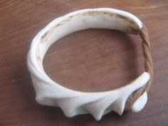 Bracelet, carved antler