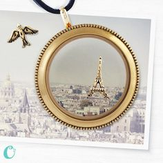 """What destination is on YOUR bucket list?   Paris? YES! How about creating a """"Bucket List Locket"""" so you can look at your locket and be reminded of the things are are destined to do!  https://karenhohman.origamiowl.com/"""