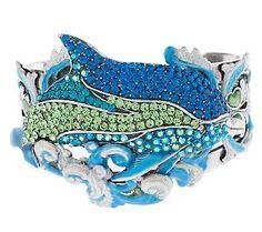 Kirks Folly Princess of the Seas Dolphin Cuff Bracelet
