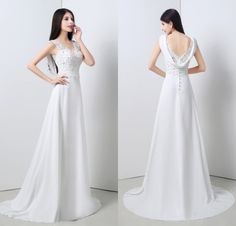 Find More Wedding Dresses Information about Elegant Cheap Mermaid Chiffon Wedding Dresses 2015 V Neck With Lace Appliques Wedding Bridal Gowns Sexy Vestido De Noiva SD9,High Quality wedding dresses size 22,China dress wedding mermaid Suppliers, Cheap dress and jacket for wedding from Suzhou Romantic Wedding Dress Co. Ltd on Aliexpress.com